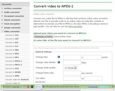 Conversion de vidéos en ligne