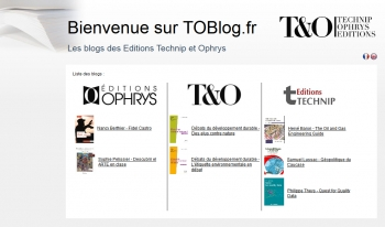 TOBlog.fr - Les blogs des Editions Technip et Ophrys