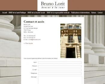 Avocat Bruno Lorit - écran n°3