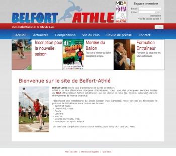 Belfort Athlé - écran n°1