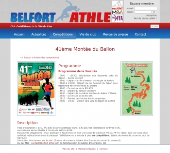 Belfort Athlé - écran n°2