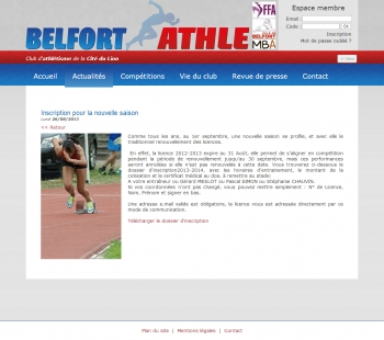 Belfort Athlé - écran n°5