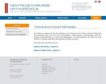 Chirurgie Dijon - écran n°9