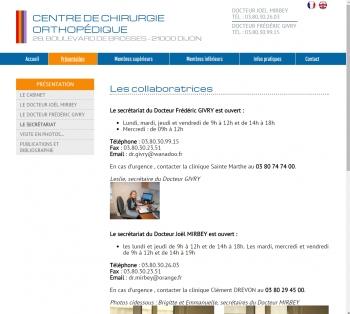 Chirurgie Dijon - écran n°5