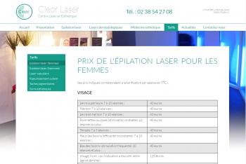 Cleor laser - écran n°5