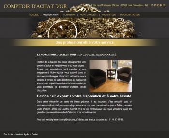 Comptoir d'achat d'or - écran n°1