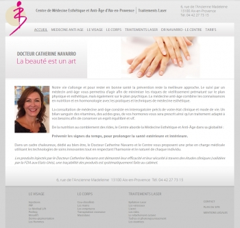 Docteur Cathérine Navarro - écran n°1