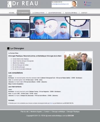 Dr Reau - Chirurgie esthétique Bordeau - écran n°2