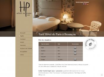 Hôtel de Paris à Besançon - écran n°4