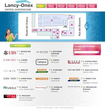 Lancy-onex - Centre commercial - écran n°2