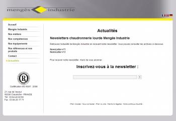 Mengès Industrie - écran n°2