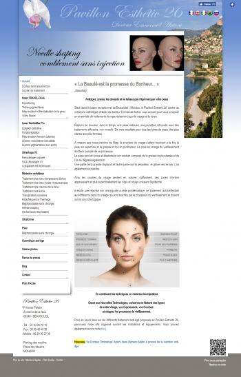 Pavillon Esthétic 26 - Dr Emmanuel Antoni - écran n°1