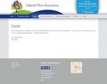 Piton assurance - écran n°3
