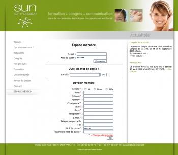 Sun communication - écran n°5