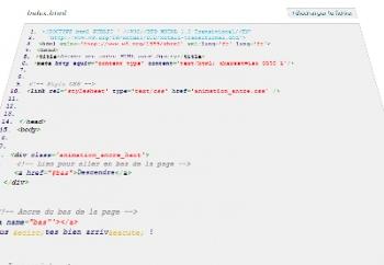 Animer une ancre HTML avec Jquery