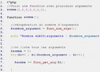 Comment avoir une fonction PHP avec X arguments ? Partie 1