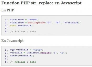 Les fonctions PHP en Javascript