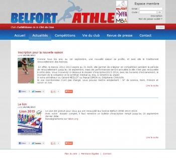 Belfort Athlé - écran n°4
