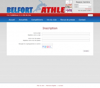 Belfort Athlé - écran n°3