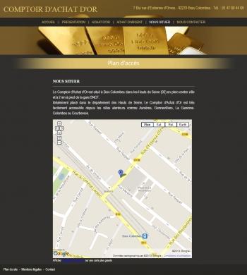 Comptoir d'achat d'or - écran n°3