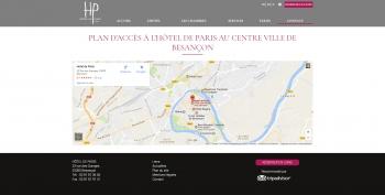 Hôtel de Paris à Besançon - écran n°8