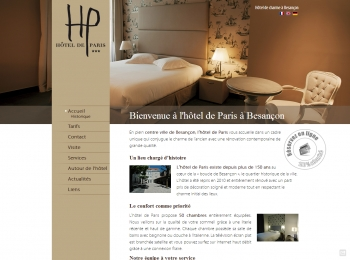 Hôtel de Paris à Besançon - écran n°1